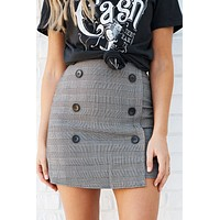 Live Forever Skirt (Black/White)
