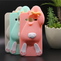 High Quality Soft Silicon Case For Samsung Galaxy J1 J3 J5 On5 Back Cover 3D Cartoon Cute  Buck-Toothed Rabbit Phone Housing