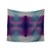 "Nika Martinez ""Hipsterland II"" Purple Teal Wall Tapestry"