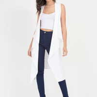 Open To Suggestions Slit Duster Vest