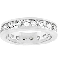 Hillary Lustrous Eternity Stackable Ring | 3ct