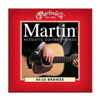 Martin Light 80/20 Bronze Acoustic Guitar Strings (Red)