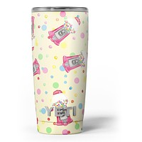 The Fun Colorful Gumball Machine Pattern - Skin Decal Vinyl Wrap Kit compatible with the Yeti Rambler Cooler Tumbler Cups