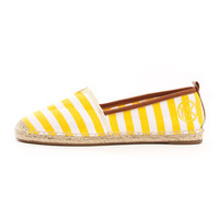 Michael Kors Meg Striped Espadrille Flat