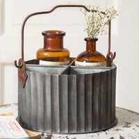 Corrugated Divided Caddy with Handle
