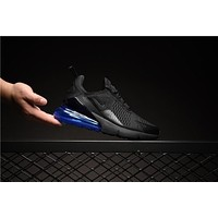 Nike Air Max 270 Black Blue AH8050-009 Sport Running Shoes