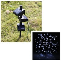 New Waterproof White Attachable Solar Power 100 LED String Fairy Light For Christmas Light