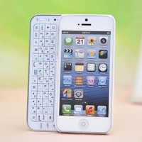 Novelty Sliding Bluetooth Wireless Keyboard Case Cover for Iphone 4/4s/5