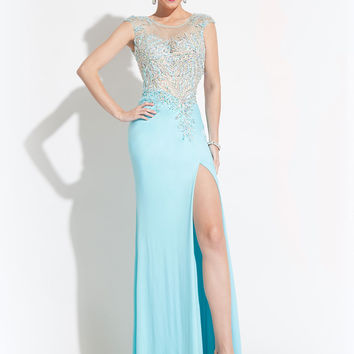 Cut Out Open Back With High Slit Formal Prom Dress By Rachel Allan 6949