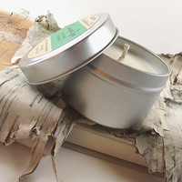 Coconut Lime scented Soy Candle - Hand Poured Soy Candle -- 4 ounce Tin