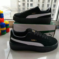 """PUMA"" All-match Male Female Fashion Multicolor Stripe Couple Plate Shoes Single Shoes Casual Shoes"