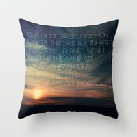 We are All Mortal ~ JFK Throw Pillow by Caleb Troy