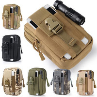 New Universal Outdoor Tactical Holster Military Molle Hip Waist Belt Bag Wallet Pouch Purse Phone Case for iPhone 7 for Samsung