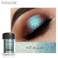 Glitter Crystal Eyeshadow Loose Powder Makeup Waterproof Shimmer Eyes Pigments Easy To Wear Brand Focallure Eyeshadow