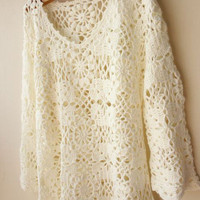 High Quality Lace Crochet Blouse [113]