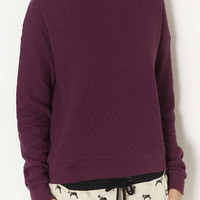Quilted Sweat - Topshop USA