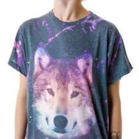 Wildfox Couture Night Wolf Oversize T Multi