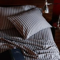 Flannel Sheet Set - Midnight Stripe