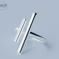"Retro ""11""shape  925 sterling silver tail ring,a perfect gift"