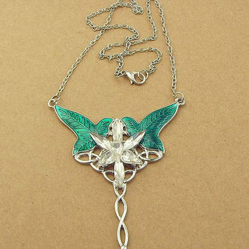 Necklace princess elves and leaves! Lord of the Rings, Crystal Mountain!