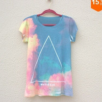 027,new spring 2014 summer leisure stars Fawn Harajuku t-shirt women's short-sleeved t-shirt top for women (Size: M) = 1956694020