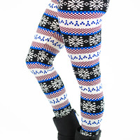 Frosted Flurries Leggings - ONE SIZE FITS MOST