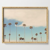 Palm trees Serving Tray by sylviacookphotography