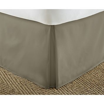 Soft Essentials Premium Pleated Bed Skirt Dust Ruffle - Taupe - King