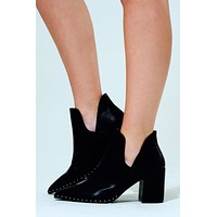 Step Out In Style Booties: Black