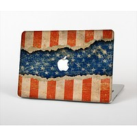 "The Scratched Surface Peeled American Flag Skin Set for the Apple MacBook Pro 15"" with Retina Display"
