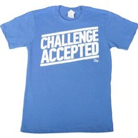 How I Met Your Mother Challenge Accepted T-Shirt (Size:Large, Color:Blue)