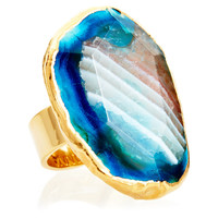 Turquoise Fire Agate Aurelie Ring,8, Stone & Novelty Rings