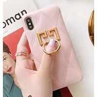 Givenchy New fashion metal accessories protective cover phone case Pink