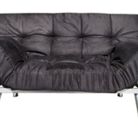 The College Cozy Sofa Mini-Futon Black Dorm Furniture Seating College Dorms Stuff Fun Items Dorm Supplies