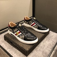 Gucci Men Fashion Boots fashionable Casual leather Breathable Sneakers Running Shoes07150ff