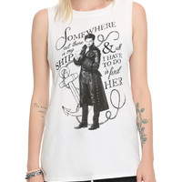 Once Upon A Time Hook Quote Girls Muscle Top