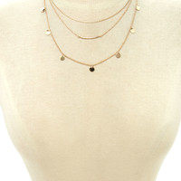 Disc Layered Necklace | Forever 21 - 1000170849