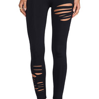 David Lerner Ripped Legging in Black