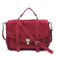 Retro Big Satchel messenger bag female suede designer handbags high quality crossbody bags for women briefcase postman bag