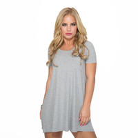 See You Later Dress In Grey