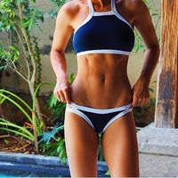 Navy with white trim 2 pc Swimsuit 2017 HOT!!