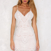 In Flames Dress White