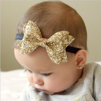 A New Cut Baby Shiny Bow Knot Headband