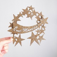 Just Married Star Cake Topper - Madeline Trait - Partners