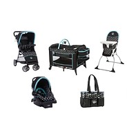 Disney Mickey Mouse Baby Gear Bundle,Stroller Travel System,Play Yard with Diaper Bag