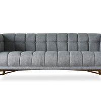 Zola Mid-Century Modern Sofa French Grey