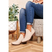 Walk On The Wild Side Faux Leather Booties (Pale Taupe Snake)