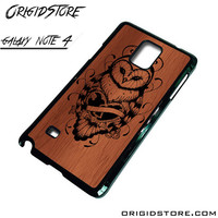 Owl Wood Case For Samsung Galaxy Note 4 Case