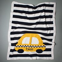 Organic Baby Blanket - Large Taxi