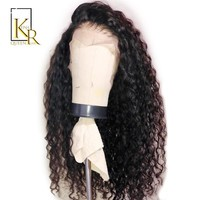Cool 150% Curly Wig Brazilian Remy Hair Lace Front Human Hair Wigs For Women With Black Color Baby Hair Full End Pre Plucked 13*4LaceAT_93_12